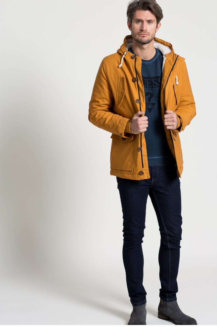 žltá pánska bunda na zimu