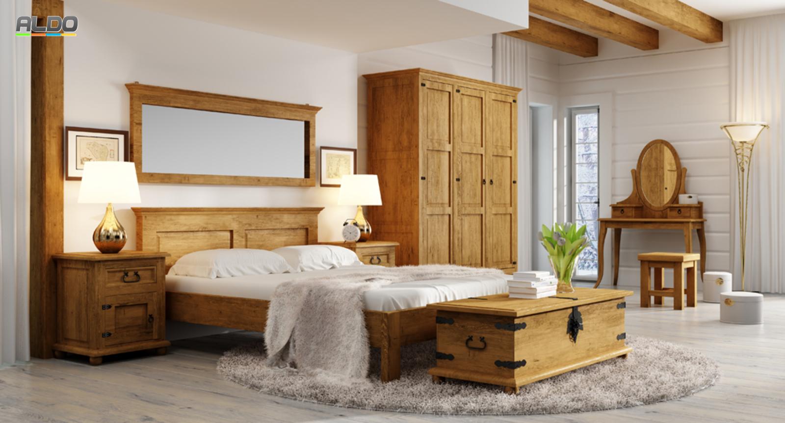 rustykálna spálňa