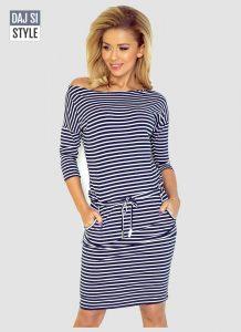 dámske šaty námornícke
